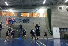 Newcastle volley their way past Leeds poly