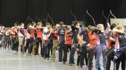 Bow and arrow: Newcastle's archers look impressive in action. Image: Heather Flint.