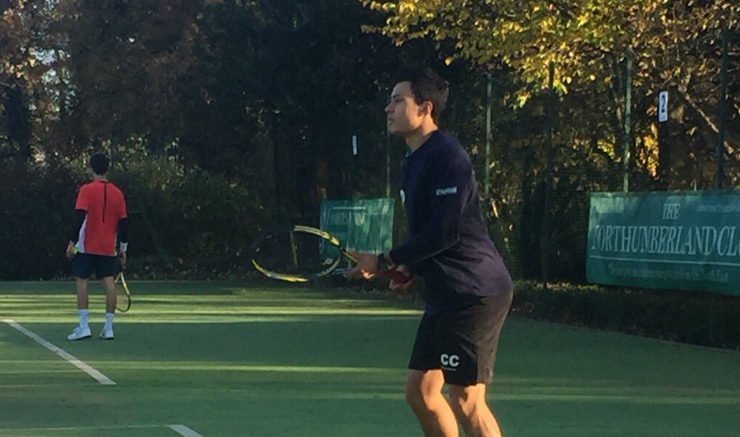 The conditions were deceptively windy at the Northumberland Club. Image: @newcastletennis on Twitter