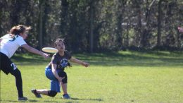 Disc jockey: Dianne Marquez Lopez only learnt to play ultimate at the start of uni, now she's representing GB. Image: Elgan Jones