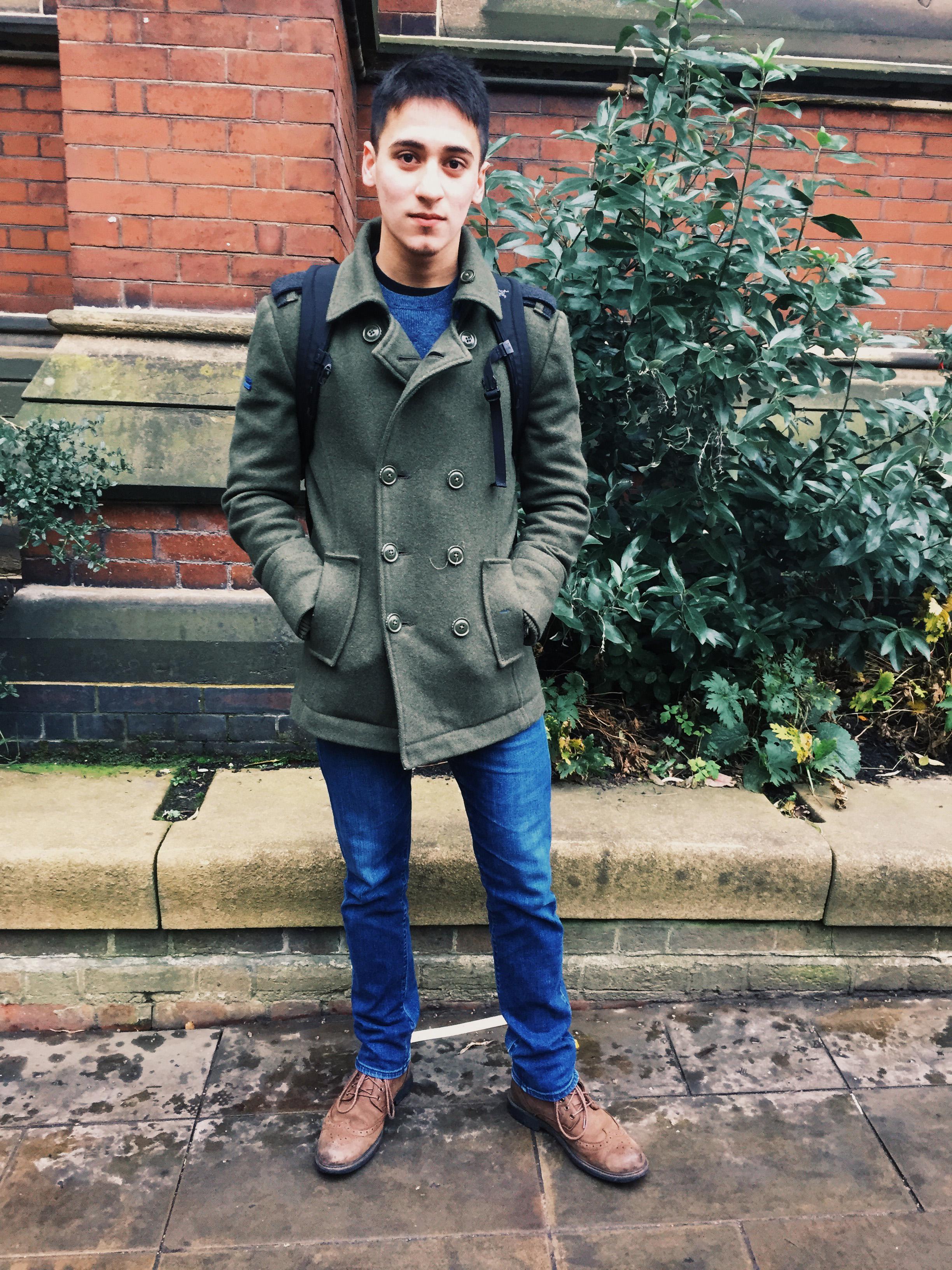 Mikhail Barb Jacket: Superdry Jeans: ASOS  Shoes: Burton
