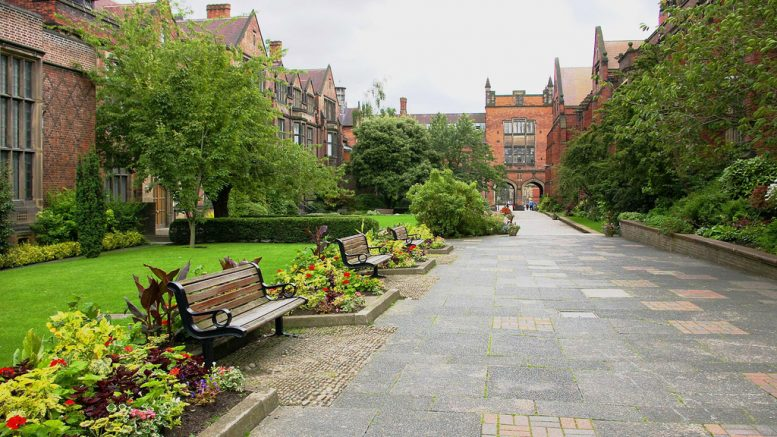 The Newcastle University campus blossoming with sustainability. Image: Flickr, Alan Carr