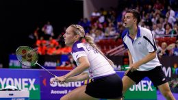 Partners in crime: Chris and Gabby Adcock out on court. Image: Wikimedia Commons