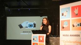 Former editor of the Courier Victoria Armstrong, speaking at last years media awards. Image: Kevin Wong