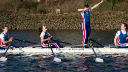 Dabtastic: NUBC celebrate in style at Newburn. Image: Phil Haswell