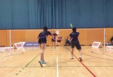 Badminton make a racket