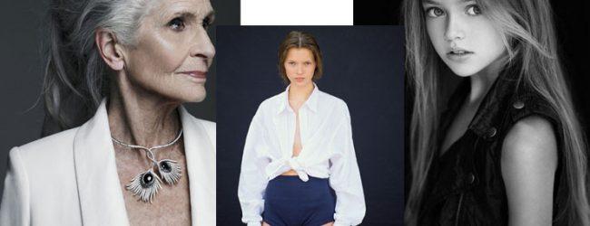Fresh-faced rising stars in modelling