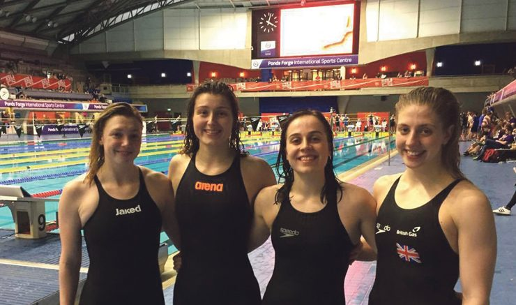 Making a splash: The Women's Relay Quartet finished in the top 15. Image: Emily Shone