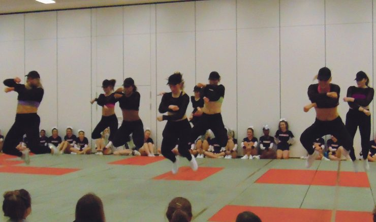 Synchro and Sass: the Hip Hop team impessed everyone in attendence. Image: Lucy Brogden