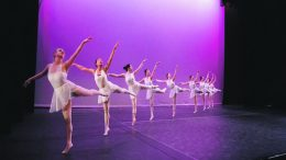 The ballet group practice ahead of the event. Image: Katherine Smith
