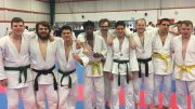 Celebrating success: the Jitsu boys look delighted with their achievements. Image: Magno Carlos