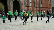 The Newcastle University Irish Dance Society leading the St Patrick's Day celebrations Image: Lucinda Lawrie.