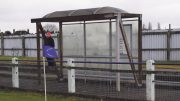 Quirks of non-league: Billingham Town's east stand was an actual bus shelter complete with timetable. Image: Hannes Read