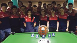 Newcastle's Pool teams celebrate a very successful showing at Nationals. Image: Adam Huang Ziwei