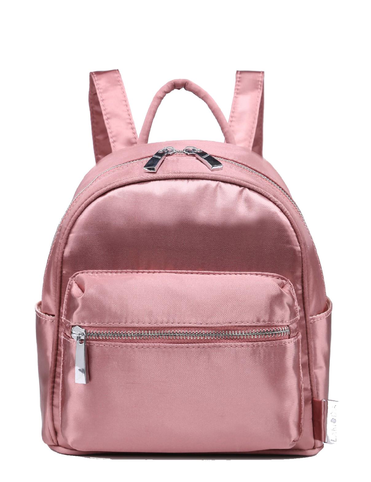 LAMODA Satin Mini Backpack in Pink Rose£21.99