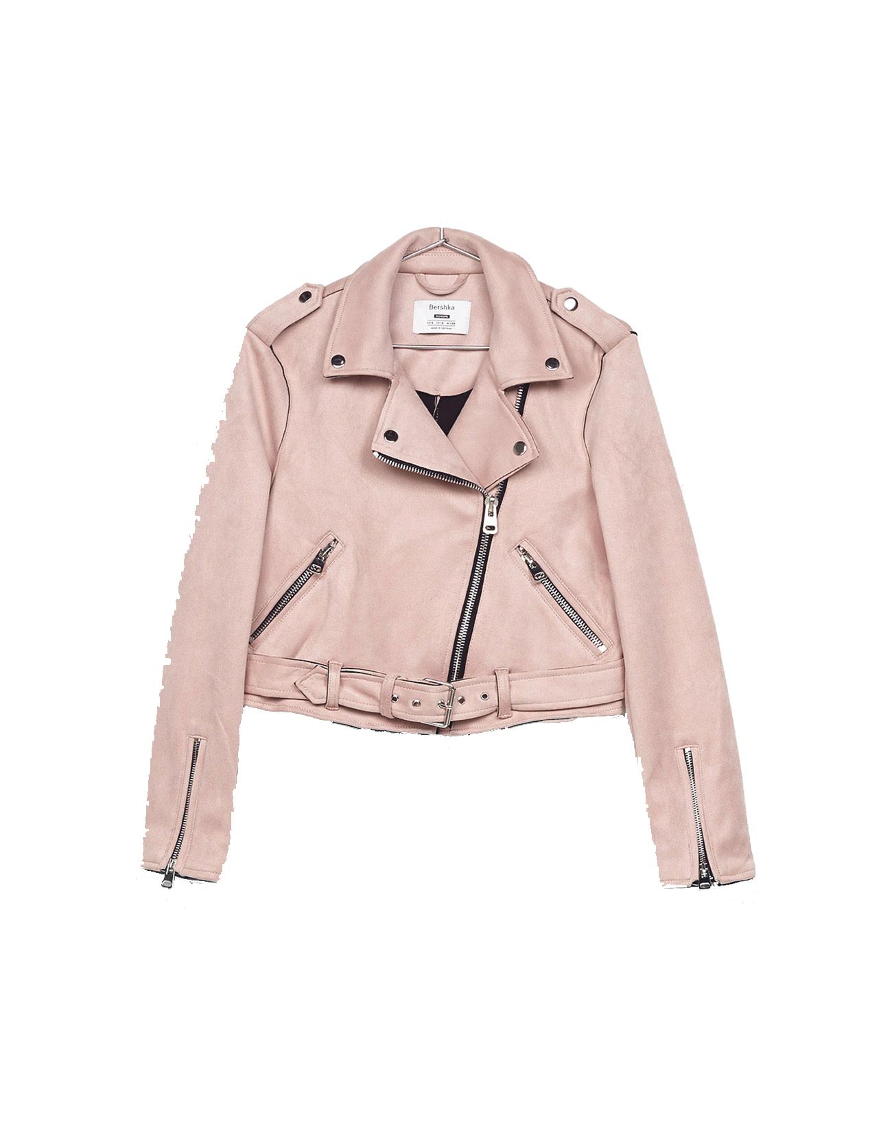 Bershka faux suede biker jacket, £49.99