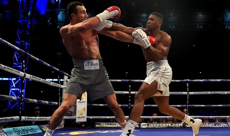 Champion: Anthony Joshua's professional record now reads 19-0 after battling Klitschko. Image: Flickr