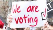 Students campaigning.  Image: Flickr, Adam Scotti.