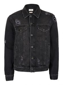 TOPMAN Black Distressed Leather Jacket, £55