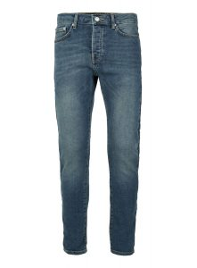 TOPMAN Blue Vintage Wash Stretch Tapered Fit Jeans, £20