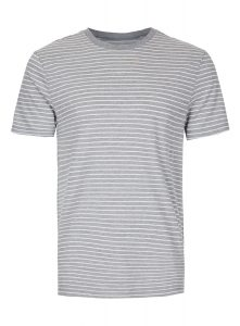 TOPMAN Grey And White Stripe T-Shirt, £10