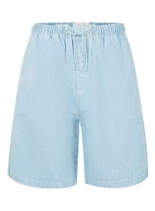 TOPMAN LTD Blue Denim Boxy Fit Shorts, £35