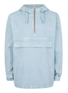 TOPMAN LTD Blue Oversized Denim Cagoule, £65