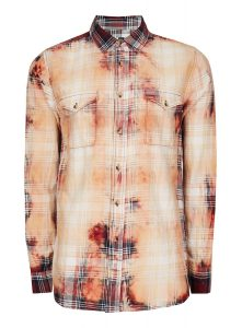 TOPMAN Red Bleached Check Casual Shirt, £32
