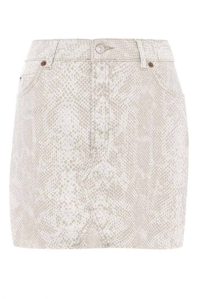 TOPSHOP MOTO Denim Coated Mini Skirt, £36