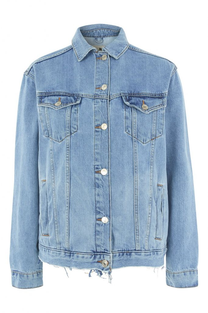 TOPSHOP Tall Oversized Ripped Western Denim Jacket, £49