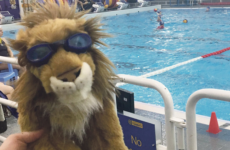 Lucky charm: Leo the Lion was widely believed to be the reason for the club's success. Image: NUWPC