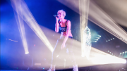 Halsey performing at The Fonda Theatre in Hollywood, CA