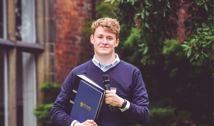 A man for all seasons: President of the Students' Union, Ronnie Reid