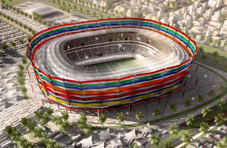 Artist's impression of the main stadium for the Qatar 2022 World Cup