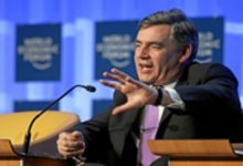 Former PM Gordon Brown visits Newcastle