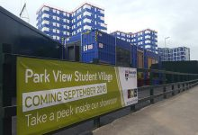 Park View Student Village halfway to completion