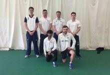 Cricketers shine indoors