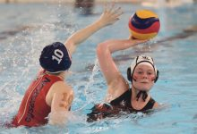 Women's water polo firsts dunk Poly rivals