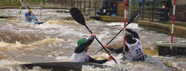 Canoe club paddle for podium position