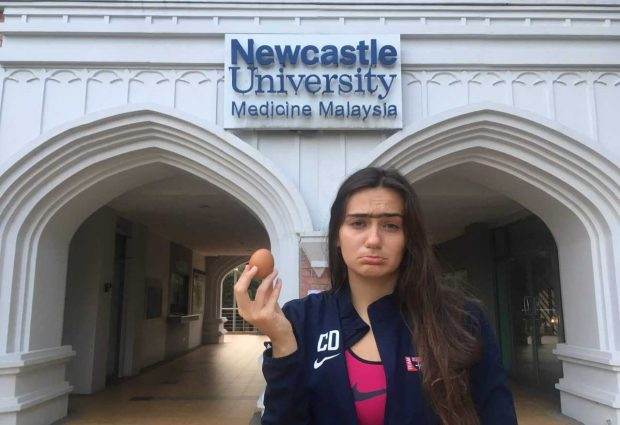 Student pledges to complete comical tasks to raise funds for flights home