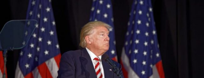 Donald Trump looks West