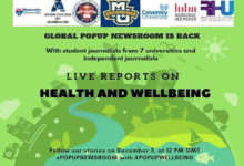 Newcastle University collaborates internationally for pop up well- being event.